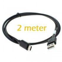 USB-C naar USB kabel - 2 meter - zwart