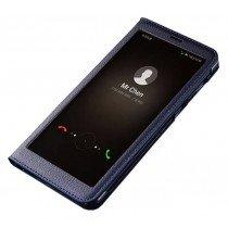 View cover leer Huawei Mate 10 Lite blauw