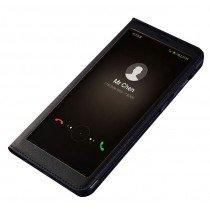View cover leer Huawei Mate 10 Lite zwart