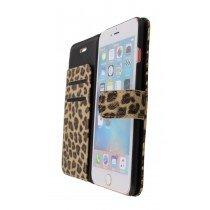Open - Wallet case tijgerprint Apple iPhone 6S Plus bruin