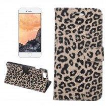 Wallet case tijgerprint Apple iPhone 7 en iPhone 8 bruin