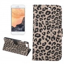 Wallet case tijgerprint Apple iPhone 7 Plus Plus/8 Plus bruin