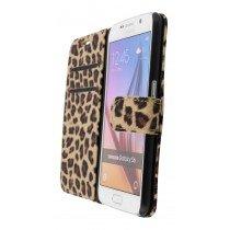 Wallet case tijgerprint Samsung Galaxy S6 bruin - Open
