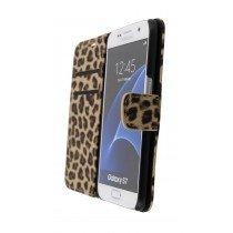 Wallet case tijgerprint Samsung Galaxy S7 bruin