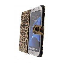Wallet case tijgerprint Samsung Galaxy S7 Edge bruin