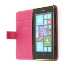 Flip case met stand Nokia Lumia 520 roze