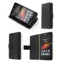 Flip case met stand Sony Xperia Z zwart