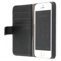 Flip case met stand Apple iPhone 5 / 5S zwart