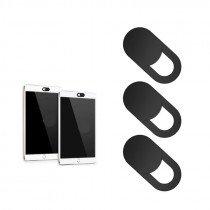 Webcam / camera afdek cover zwart (3x) voor Laptop/MacBook/telefoon/iPhone/iPad