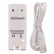 Wii remote accu / batterij 3600mAh wit