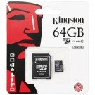 Kingston Micro SDXC Card 64GB C10