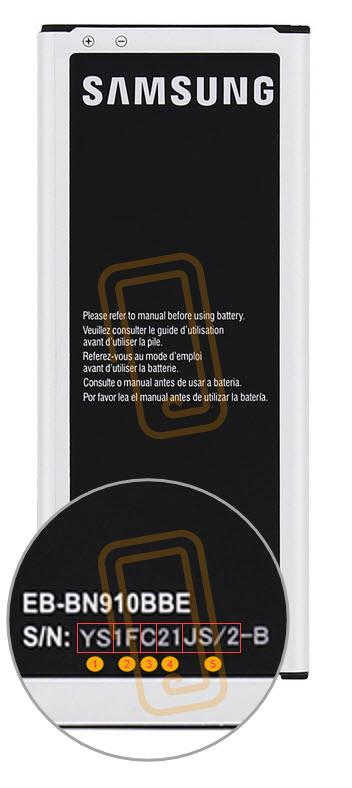 Productie datum Samsung batterij